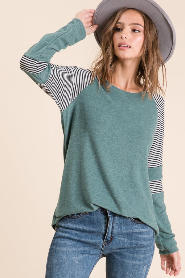 Marina Colorblock Tunic - Sage