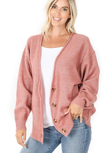 Not Your Grandpa's Cardigan - Rose
