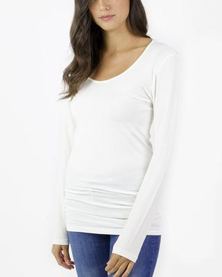 Grace & Lace Long Sleeve Perfect Fit Top - Ivory - SALE!