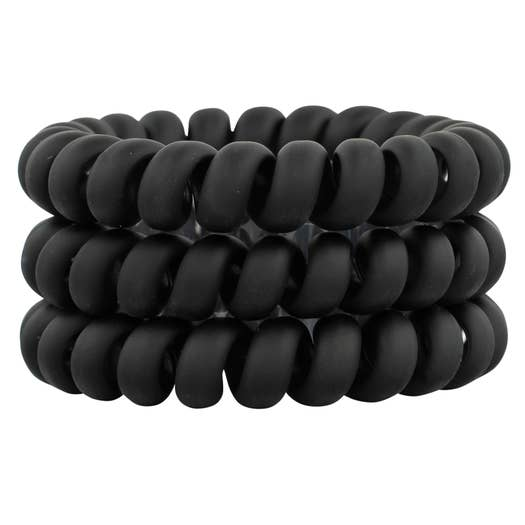 Hotline Hair Ties - Matte Black Set