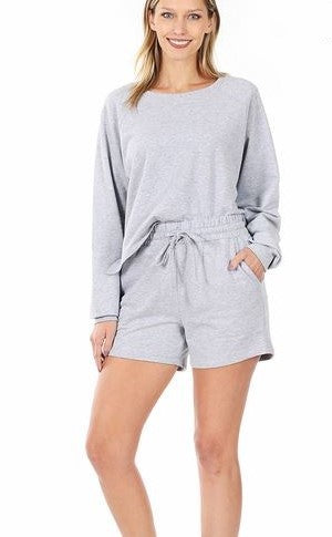 One & Only Lounge Set - Heather Grey