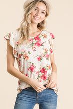 Load image into Gallery viewer, Rosie Ruffle Tee - Ivory - SALE!