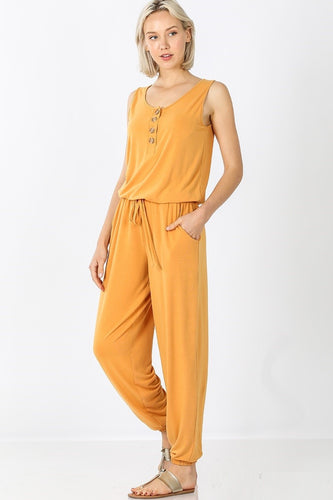 Lounge the Day Away Romper - Mustard - SALE!