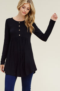Lily Full Length Tunic - Black - SALE!