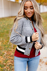 Ampersand Cool Girl Bomber - Grey/Black