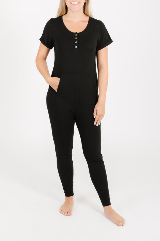 Smash + Tess AnyDay Romper - Midnight Black