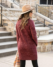 Load image into Gallery viewer, Grace & Lace Cable Knit Sweater Dress ~ Wine