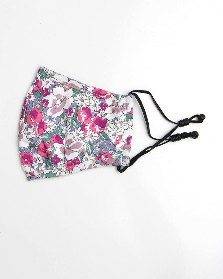 KIDS ~ Grace & Lace Double Layer Mask ~ White Floral
