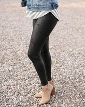 Load image into Gallery viewer, Grace & Lace Faux Leather Leggings ~ Black