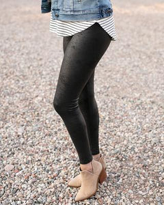Grace & Lace Faux Leather Leggings ~ Black