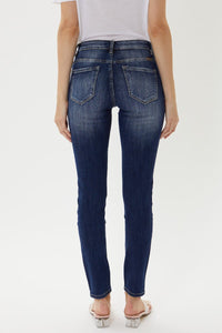 Tobie Mid Rise Distressed Patch Super Skinny by KanCan