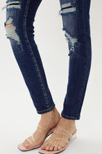 Load image into Gallery viewer, Tobie Mid Rise Distressed Patch Super Skinny by KanCan