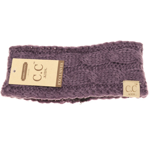 KIDS ~ CC Beanie Solid Cable Knit Headband ~ Various Colors!