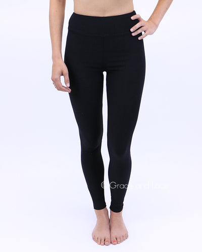 Grace & Lace Live-in Leggings ~ Black