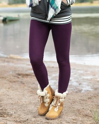 Grace & Lace Live-in Leggings ~ Plum