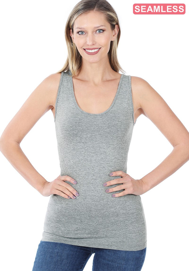 Must Have Layering Tank - Heather Grey