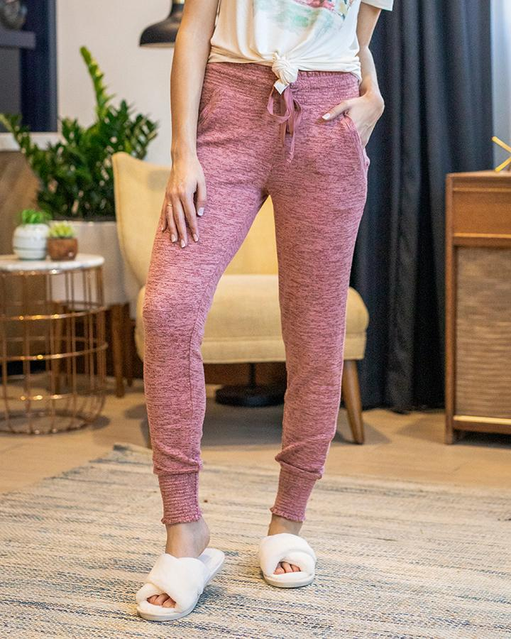 Grace & Lace Spring Day Joggers - Dusty Rose - SALE!