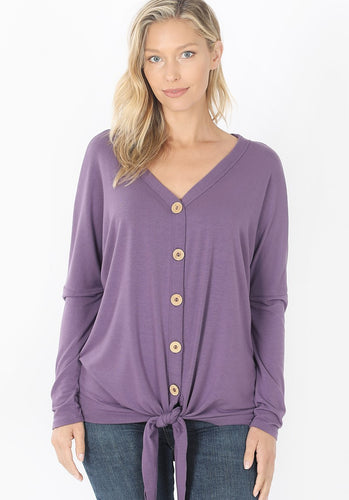 Ultra-Soft Button Down - Lilac Grey