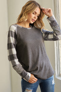 Hannah Sweater - Ivory/Grey