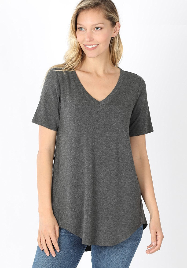 Everyday V-Neck - Heather Charcoal