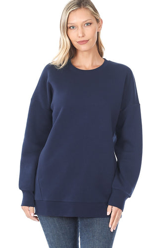 Alyssa Crew Neck Sweater - Navy - SALE!