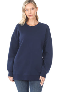 Alyssa Crew Neck Sweater - Navy