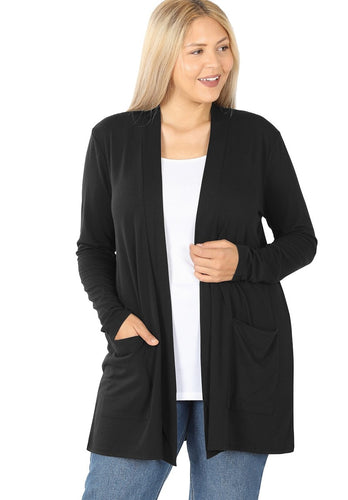 Staple Cardigan - Black *up to 3x*