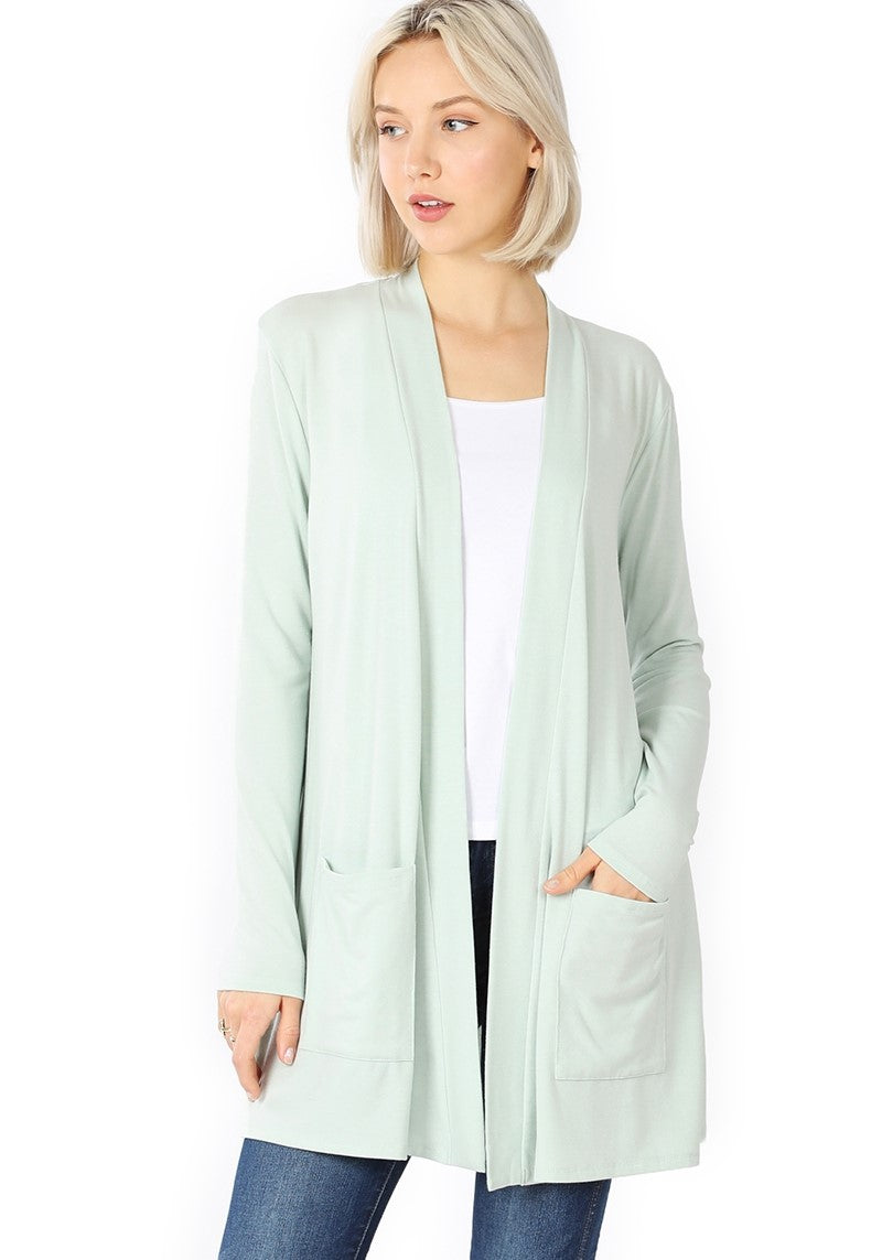 Staple Cardigan - Light Moss *up to 3x*