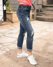 Load image into Gallery viewer, Grace & Lace Favorite Girlfriend Jean ~ Distressed Dark Wash - SALE!