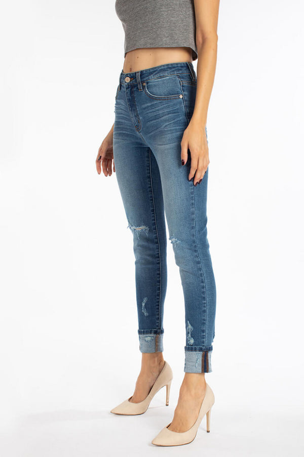 Gemma High Rise Ankle Skinny by KanCan
