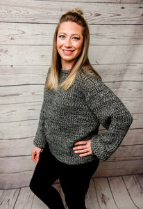 Danielle Knit Sweater - Charcoal - SALE!