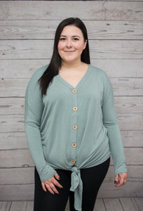 Ultra-Soft Button Down - Sage - SALE! *up to 3x*