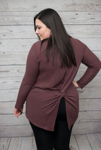 Back Twist Top - Mauve - SALE!