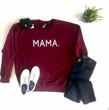 Load image into Gallery viewer, MAMA Crew Neck Sweater - Maroon