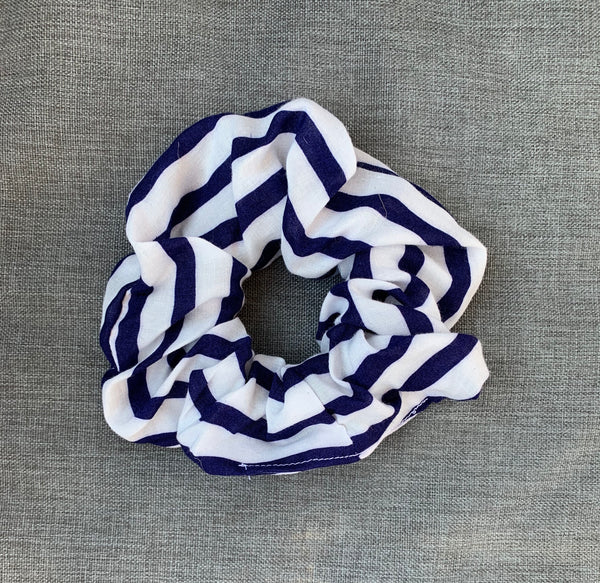 The Perfect Scrunchie - Navy Stripe