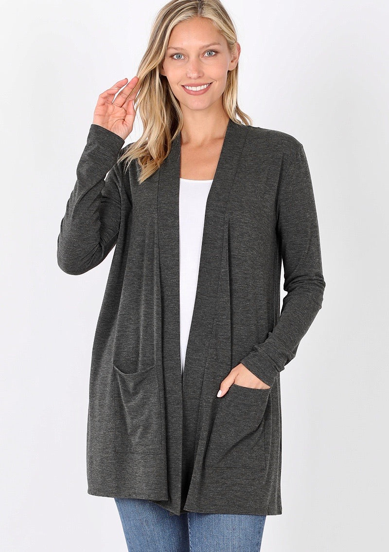 Staple Cardigan - Charcoal