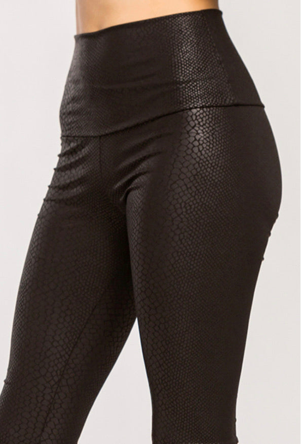 Snakeskin Leggings - Black - SALE!