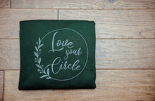 "Load image into Gallery viewer, ""Love Your Circle"" Crew Neck Sweater - Forest Green"