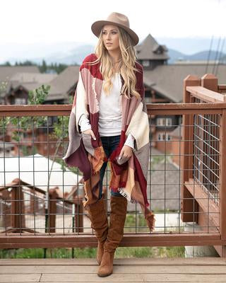 Grace & Lace Pocket Poncho/Scarf - Pumpkin Spice