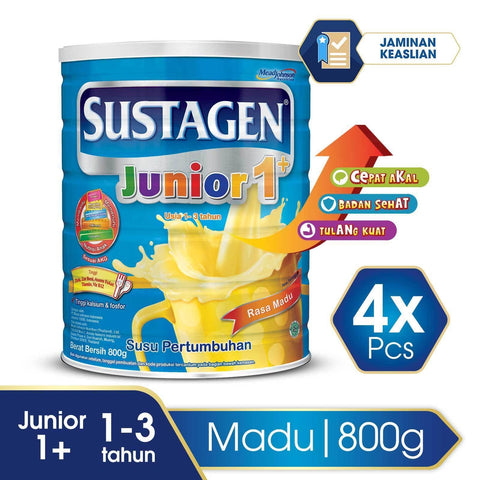 Sustagen Junior Madu tin - 800 g (4x800g)