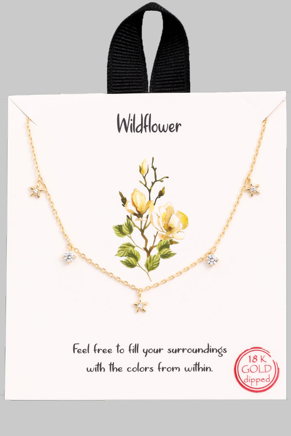Wildflower Star Charm Necklace