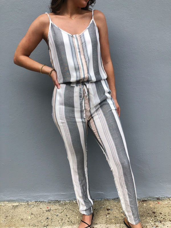 Pastel Striped Jumpsuit