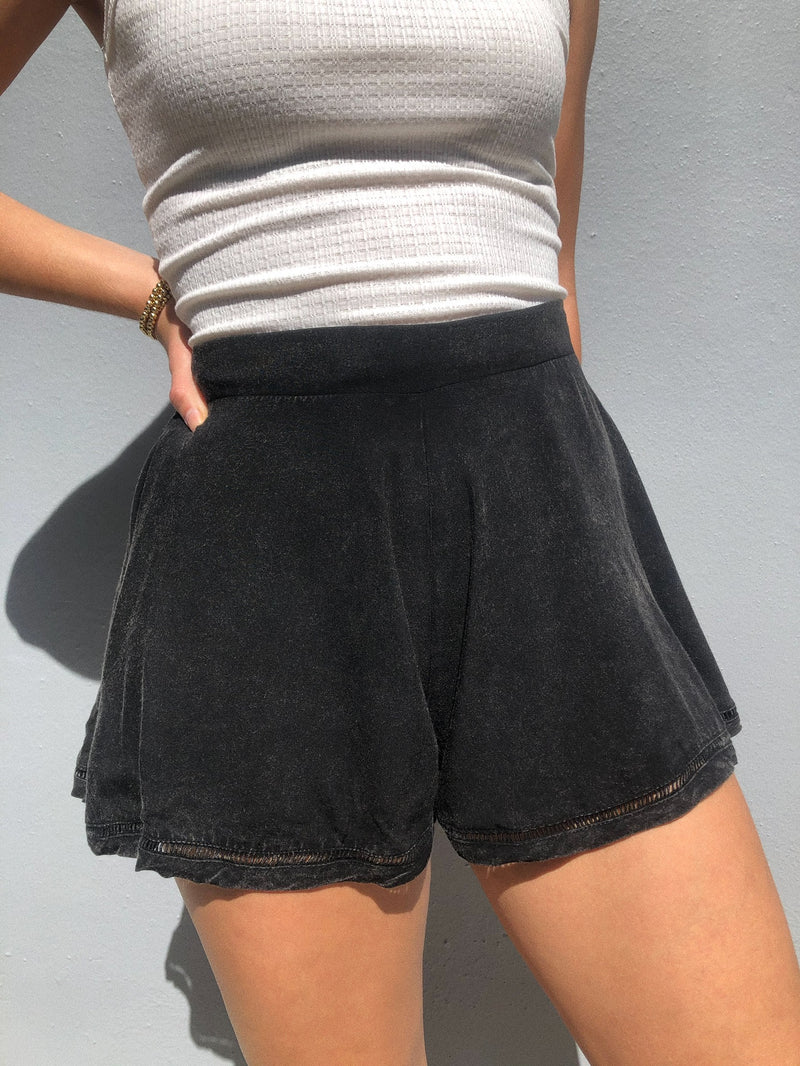 Black Washed Short