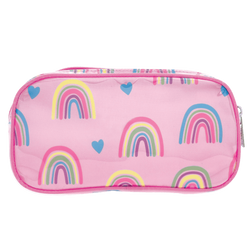 Rainbow & Hearts Small Cosmetic Bag