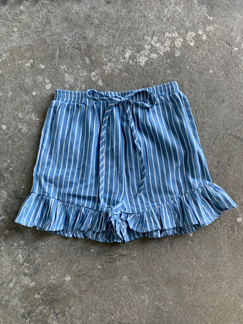 Denim Drawstring Short