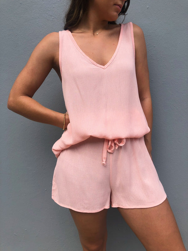 Peach Top & Short Set