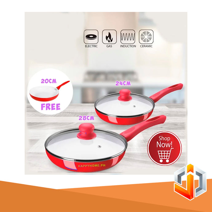 4 pcs Non-Stick Ceramic Frying Pan