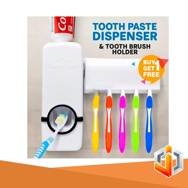 Touch Me Toothpaste Dispenser & Toothbrush Holder ( BUY 1 TAKE 1 )
