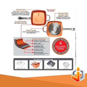 MULTI PURPOSE 4 in 1 NON-STICK MIRACLE PAN