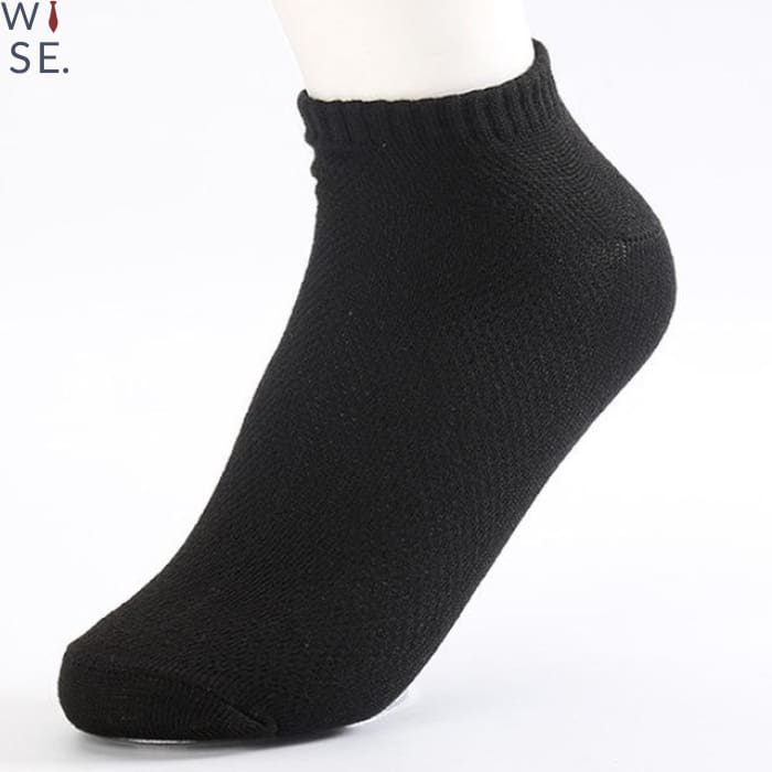 Compression Ankle Socks (10 Pcs) - Black